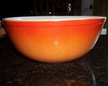 Orange Glo 404 Vintage Pyrex Nesting Mixing Bowl 4 Quart