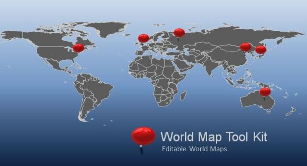 Widescreen World Map Toolkit Is An Animated Powe Business