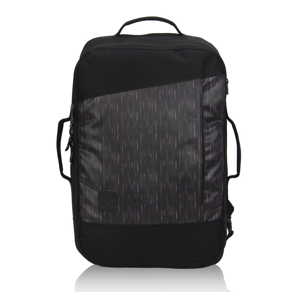 Hynes Eagle 28L Aurora Convertible 19x12x7.5 Flight Approved Carry On Travel  Backpack Black Legend f7c4512664064