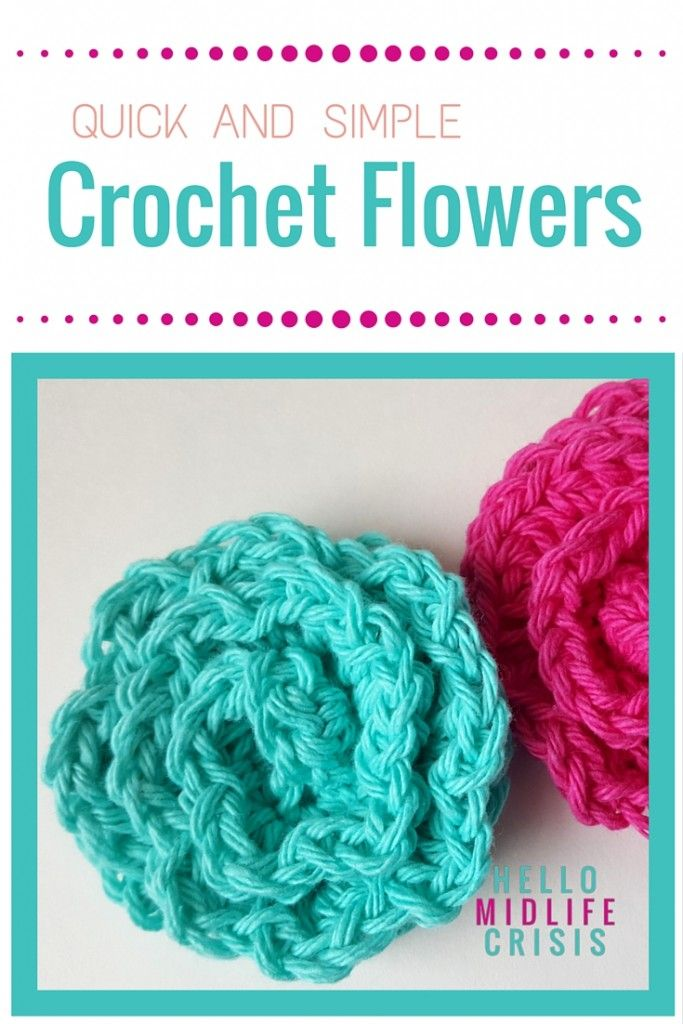 Crochet Flower Pattern - I love these!   Crafts and DIY   Pinterest