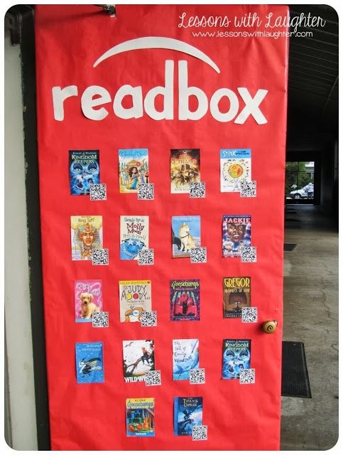 Readbox Such A Cool Idea For Book Reports Instead Of Having Students Write Something And The QR Codes Make It Interesting Rest Class