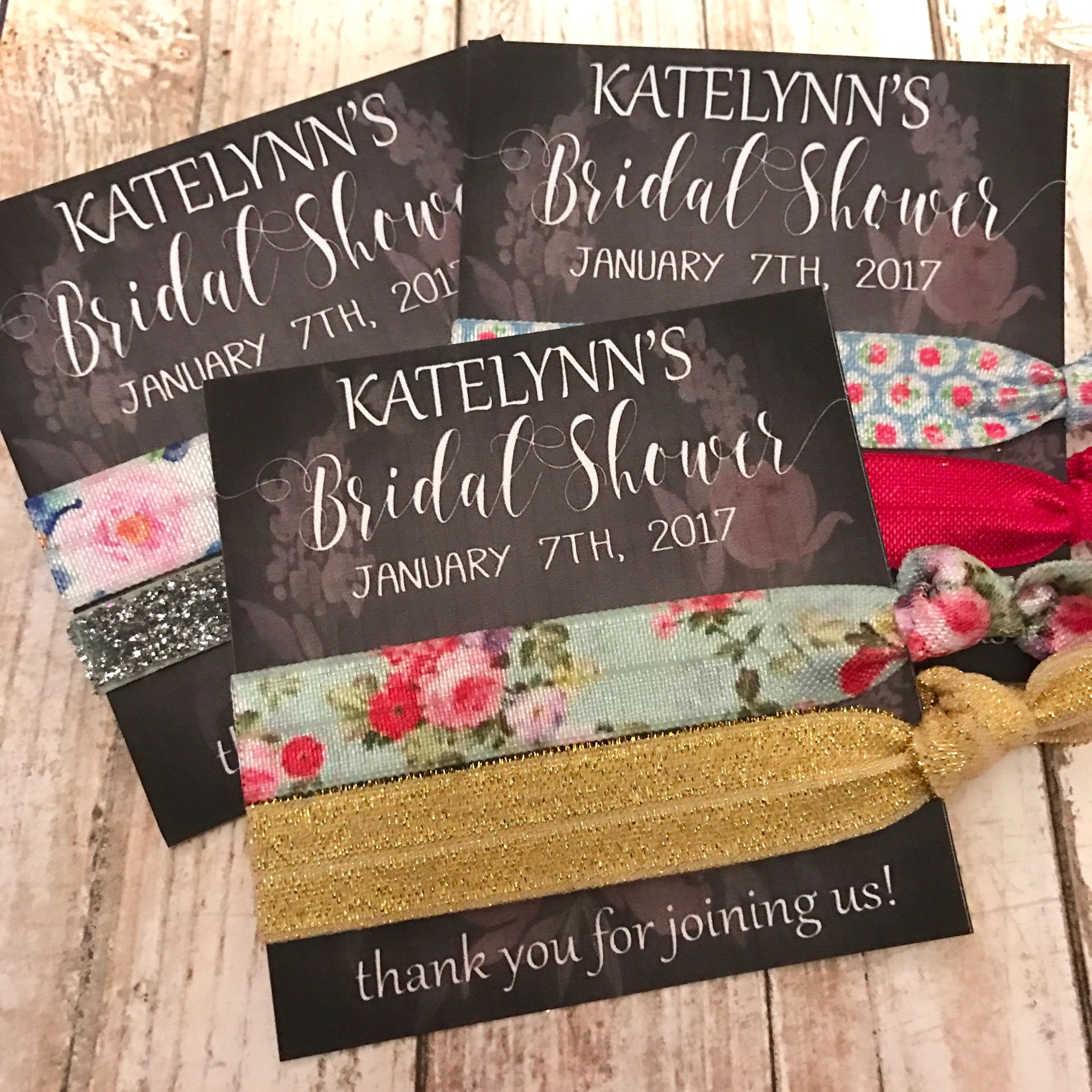 Bridal Shower Hair Tie Favor Gifts