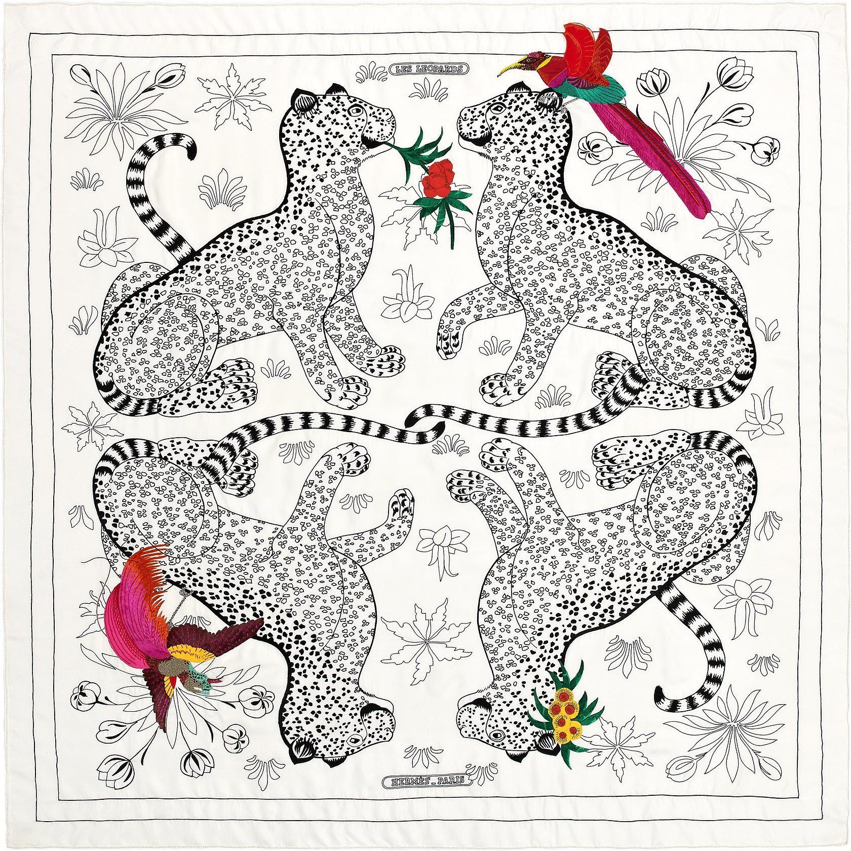 Les Léopards Oiseaux Fleuris 120x120   Accessorries   Pinterest ... 4ec768905a7
