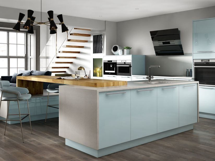 Esker Azure Wickes Co Uk In 2020 Contemporary Kitchen Kitchen Fittings Kitchen Units