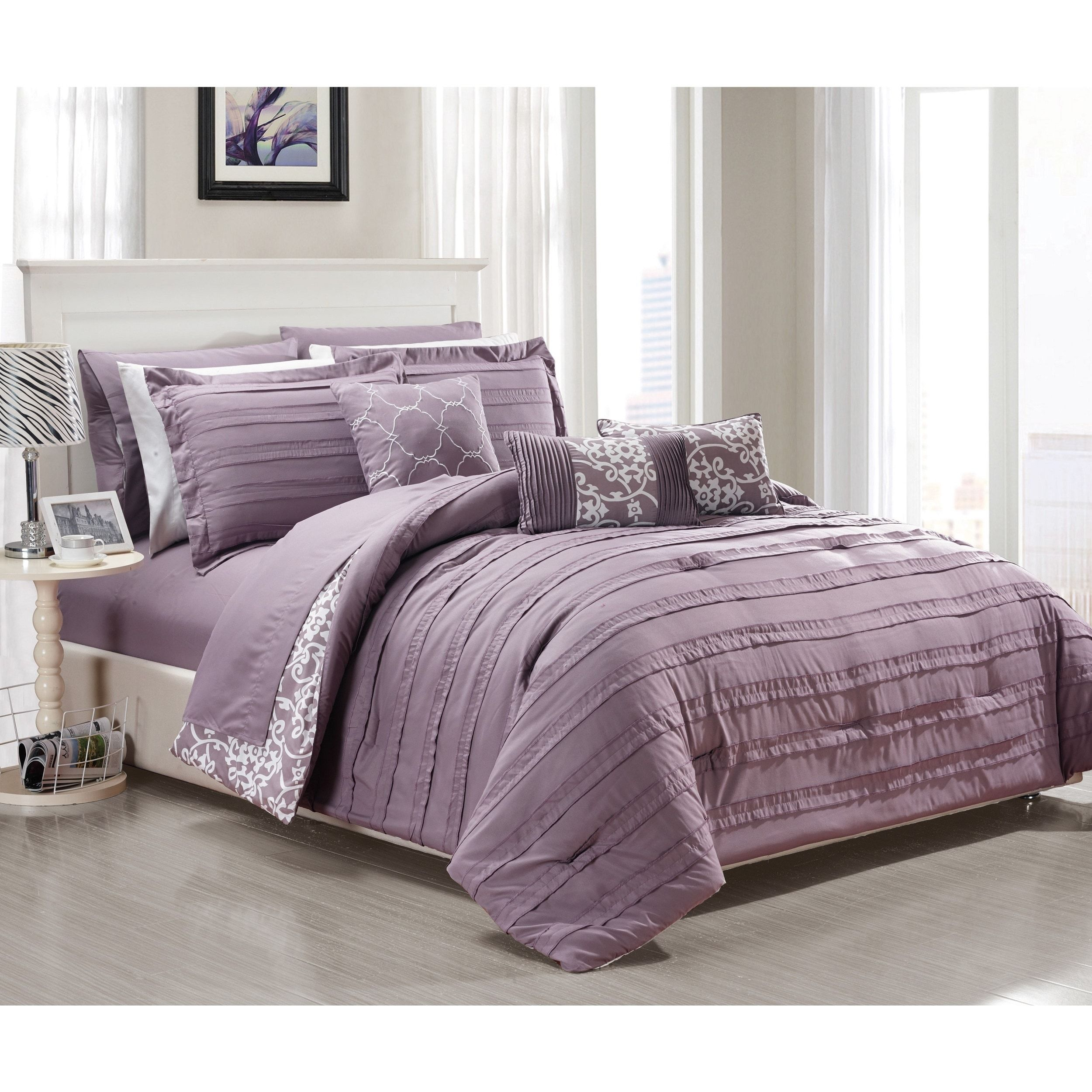 Oliver & James Francis Purple 10 piece forter Set