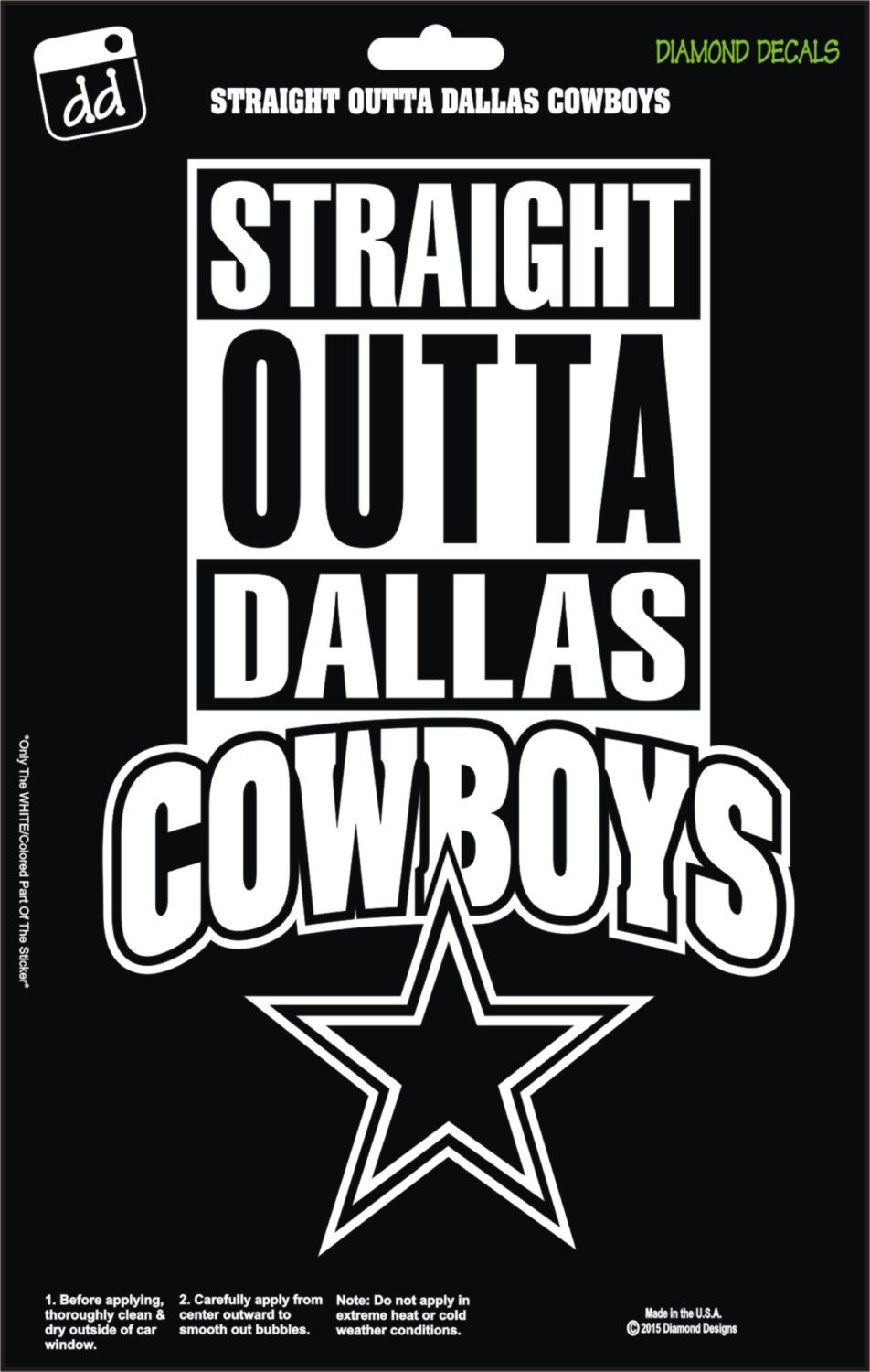 Straight Outta Dallas Cowboys NFL Football Logo Decal Vinyl Sticker ...