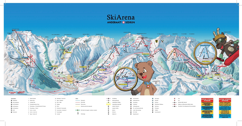 Skiarena Andermatt Sedrun Piste Map For 2018 19 Season Published