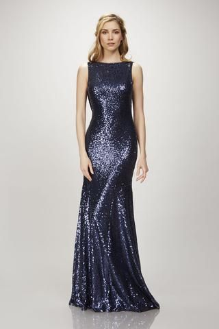 Gemma - #910125 - Sleeveless bateau neck sequin gown with cowl back ...