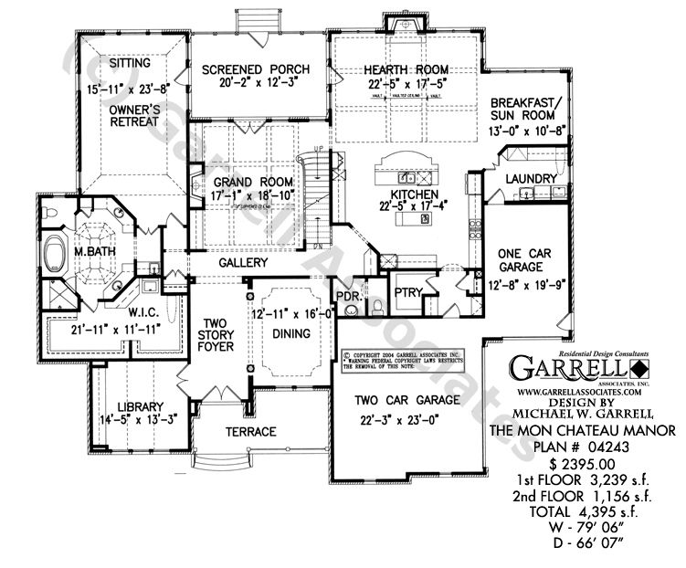 French Style Homes Floor Plans Mon Chateau Manor House Plan House Plans By Garrell Associates Inc Floor Plans Country House Floor Plan House Floor Plans