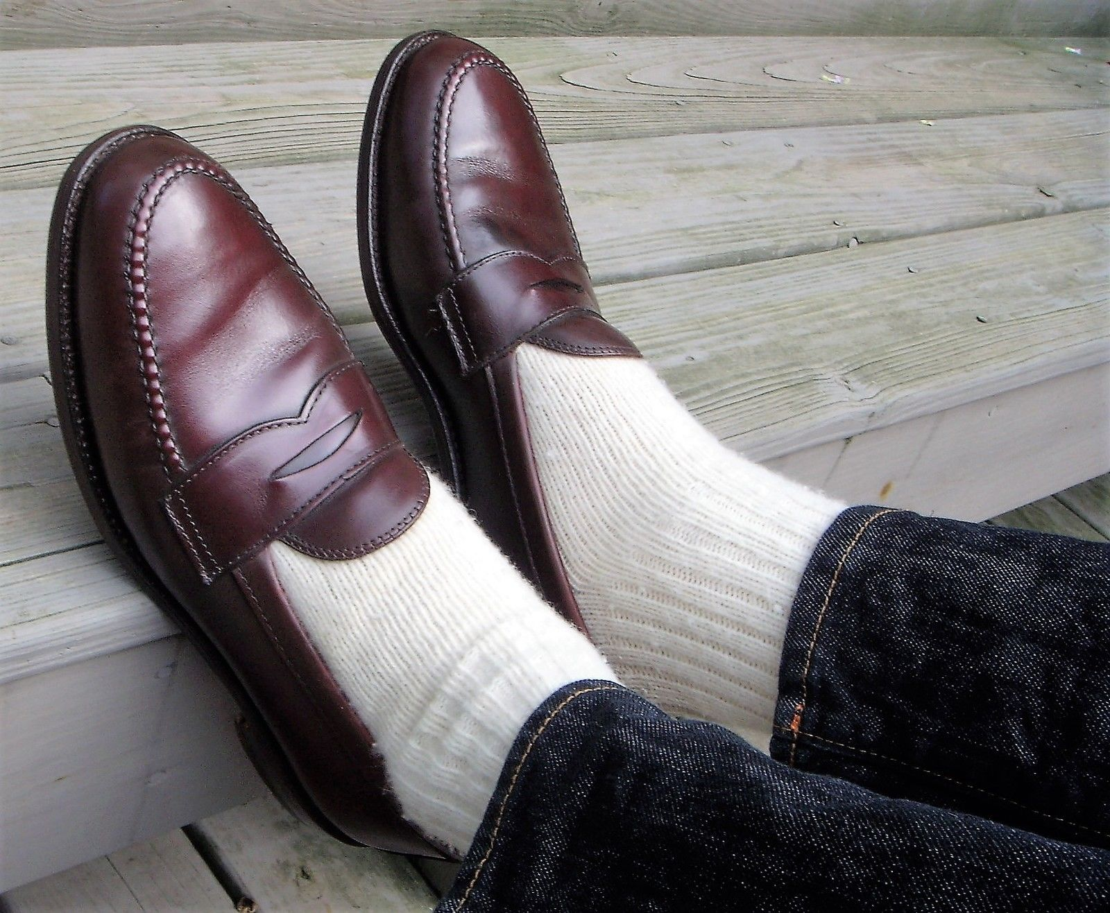 10 5 n alden 984 leisure handsewn penny loafers 10 5 b ...