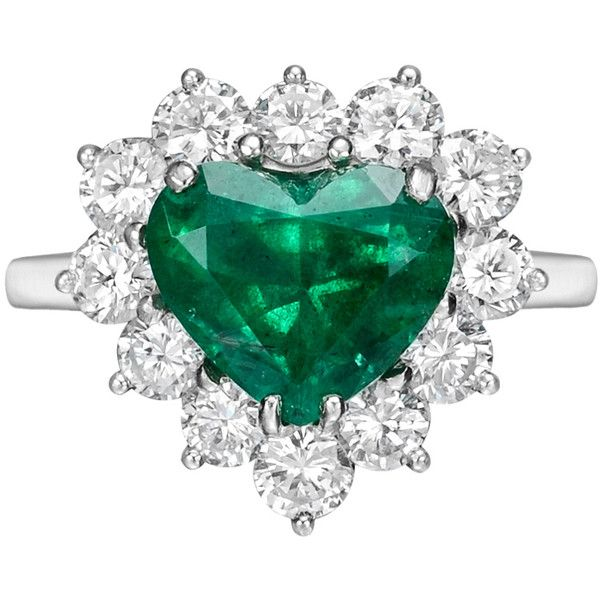 em shaped emerald gold halo pid preset rings white engagement ring and heart diamond