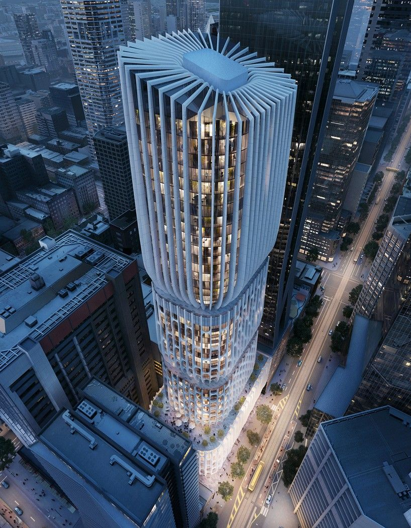 zaha hadid's tapered tower in melbourne receives planning approval