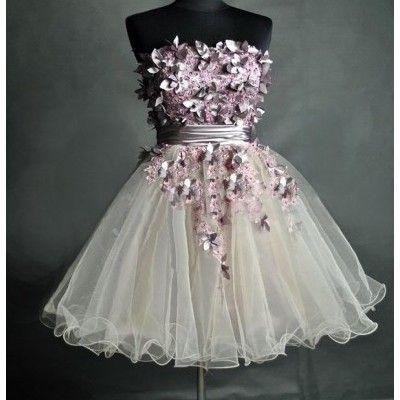 Dresses- short, tutu, butterflies, purple, white