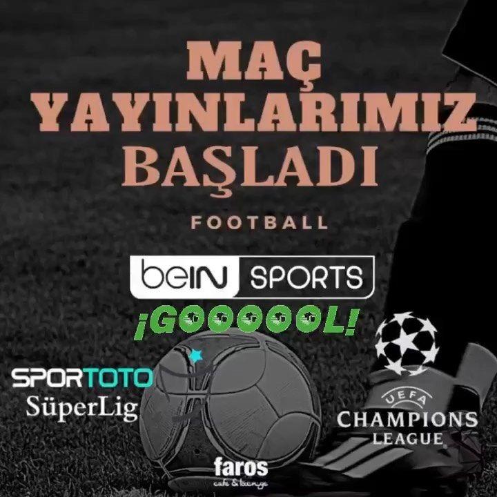 Heyecan dorukta Maç yayınlarımız başladı⚽️ UEFA Şampiyonlar Ligi, Sportoto Süper Lig maç yayınlarını Bein Sport ile Faros'ta izlemeye bekliyoruz.. . ▪️ Cafe ▪️ Lounge .