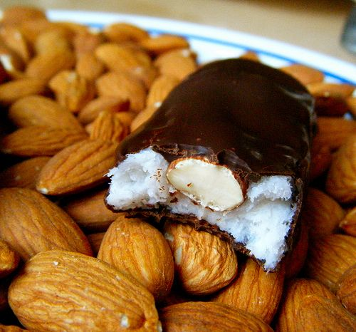 Healthy Homemade Almond Joy Bar by HealthyIndulgencesBlog, via Flickr   for donna