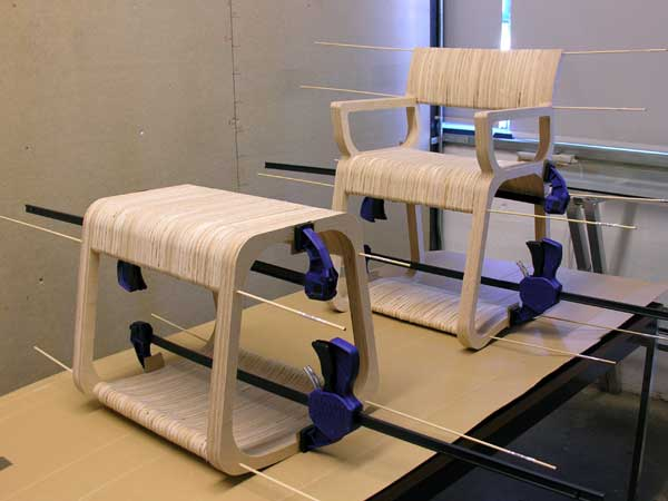 Design Aesthetic Research CNC Plywood Furniture Open Source