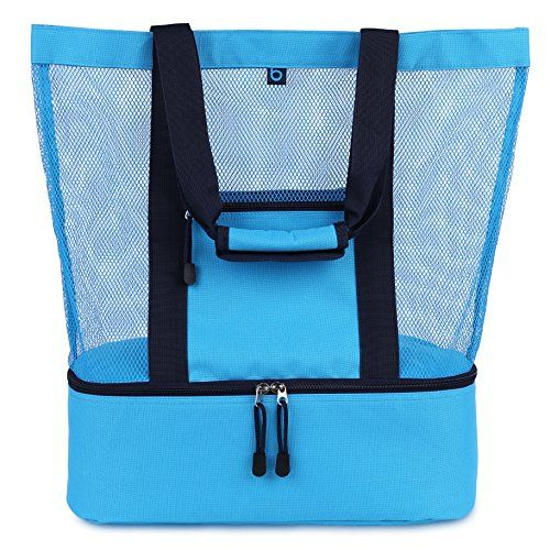 Malibu Beach Bag | 2-in-1 Mesh Beach Bag with Cooler | Beach Tote ...