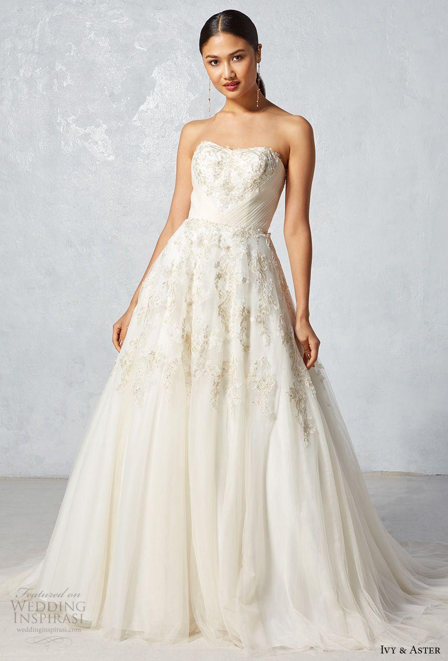 Ivy Aster Fall 2017 Wedding Dresses Wedding Inspirasi Ball Gowns Wedding Gold Lace Wedding Dress Ball Gown Wedding Dress [ 1326 x 900 Pixel ]