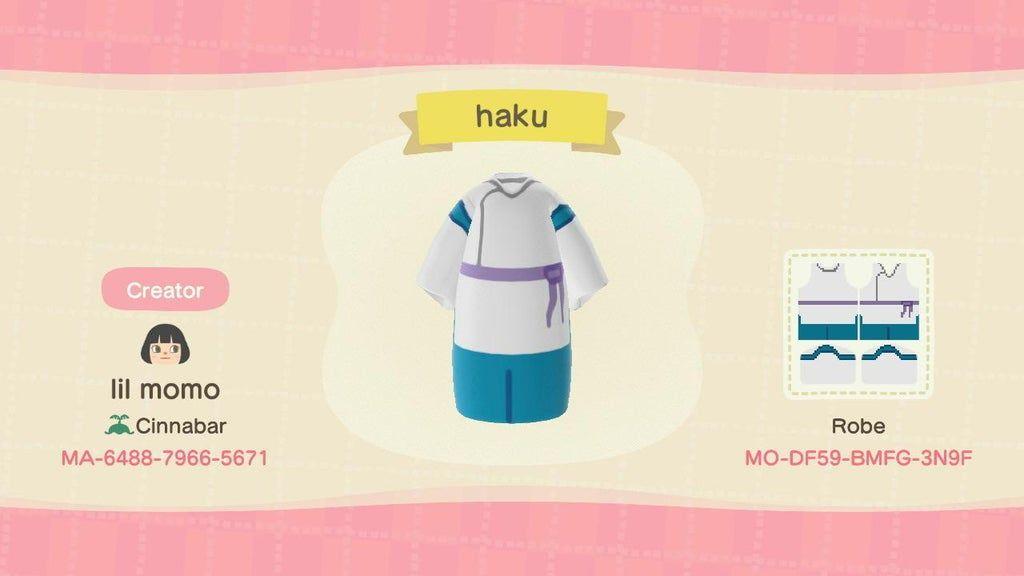 Haku From Spirited Away Acnhdesigns In 2020 Animal Crossing Animal Crossing Wild World Animal Crossing Villagers