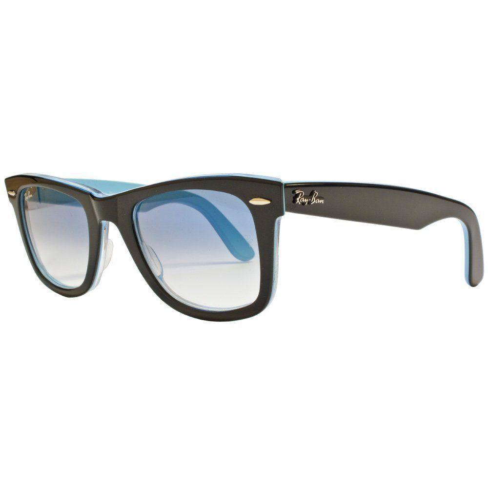 62cd632da77 NEW RAY BAN WAYFARER RB2140 1001 3F BLACK AZURE BLUE GRADIENT LENS  SUNGLASSES