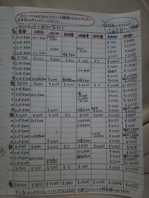 画像つき 簡単で効果のある手書き家計簿のつけ方 書き方 の見本