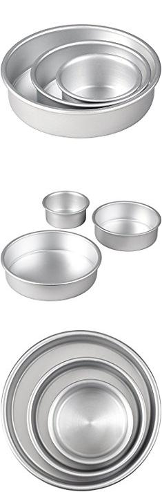 Tier Cake Pans. Wilton 2105-0472 Perfect Performance Round Cake Pan Set.  #tier #cake #pans #tiercake #cakepans
