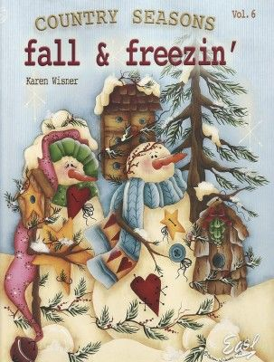 Snowman Tole Painting Patterns Free | Country Seasons Volume 6 #tolepainting
