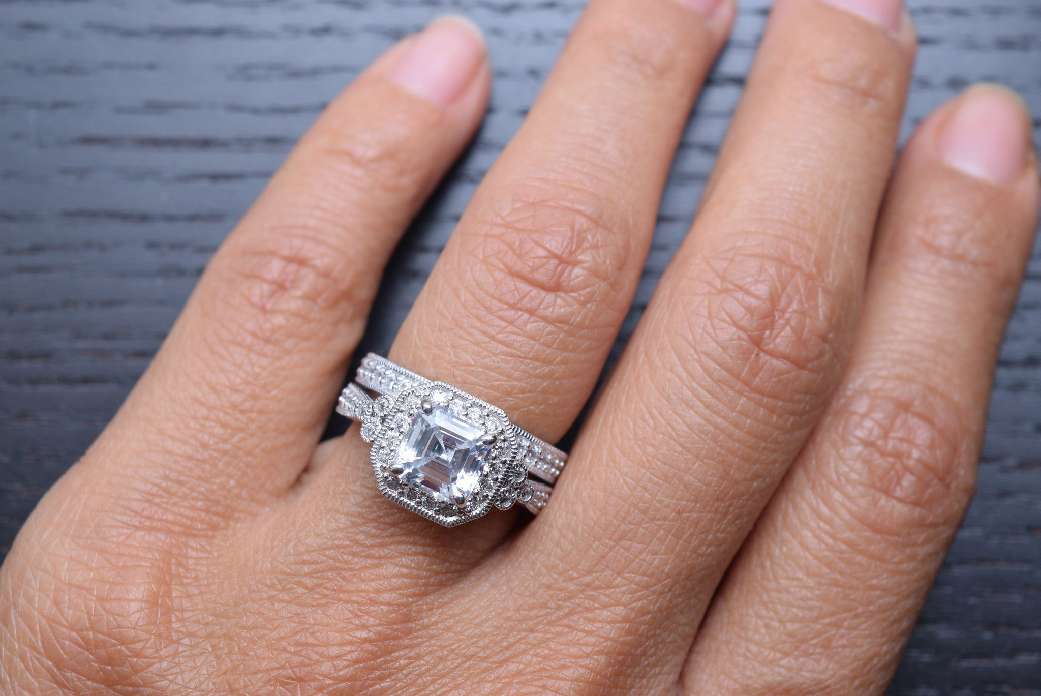 50 Luxury asscher Cut Wedding Rings Hd   Wedding Junction