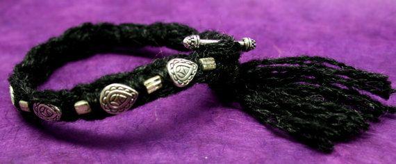 Boho Bracelet dark heather gray with pewter and by jihidesigns, $35.00