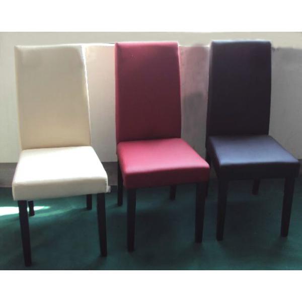 Sedie rivestite in ecopelle modello mude sedie eleganti - Sedie in ecopelle per cucina ...