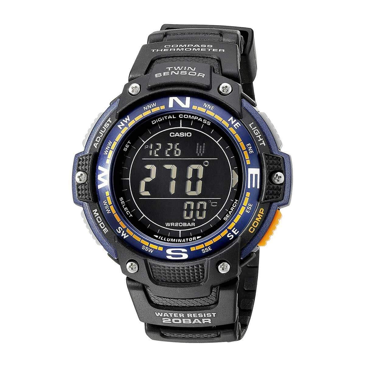 Alarm Casio Black Watch Dial Dive Men's Outgear Digital 0Ok8nPXZNw