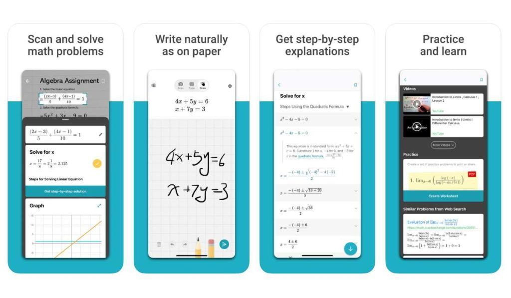 Microsoft Math Solver تطبيق من مايكروسوفت يوفر حل المعادلات