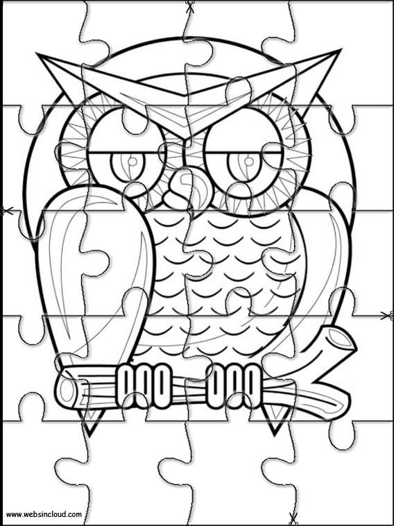 Printable jigsaw puzzles to cut out for kids Halloween 17 Coloring ...
