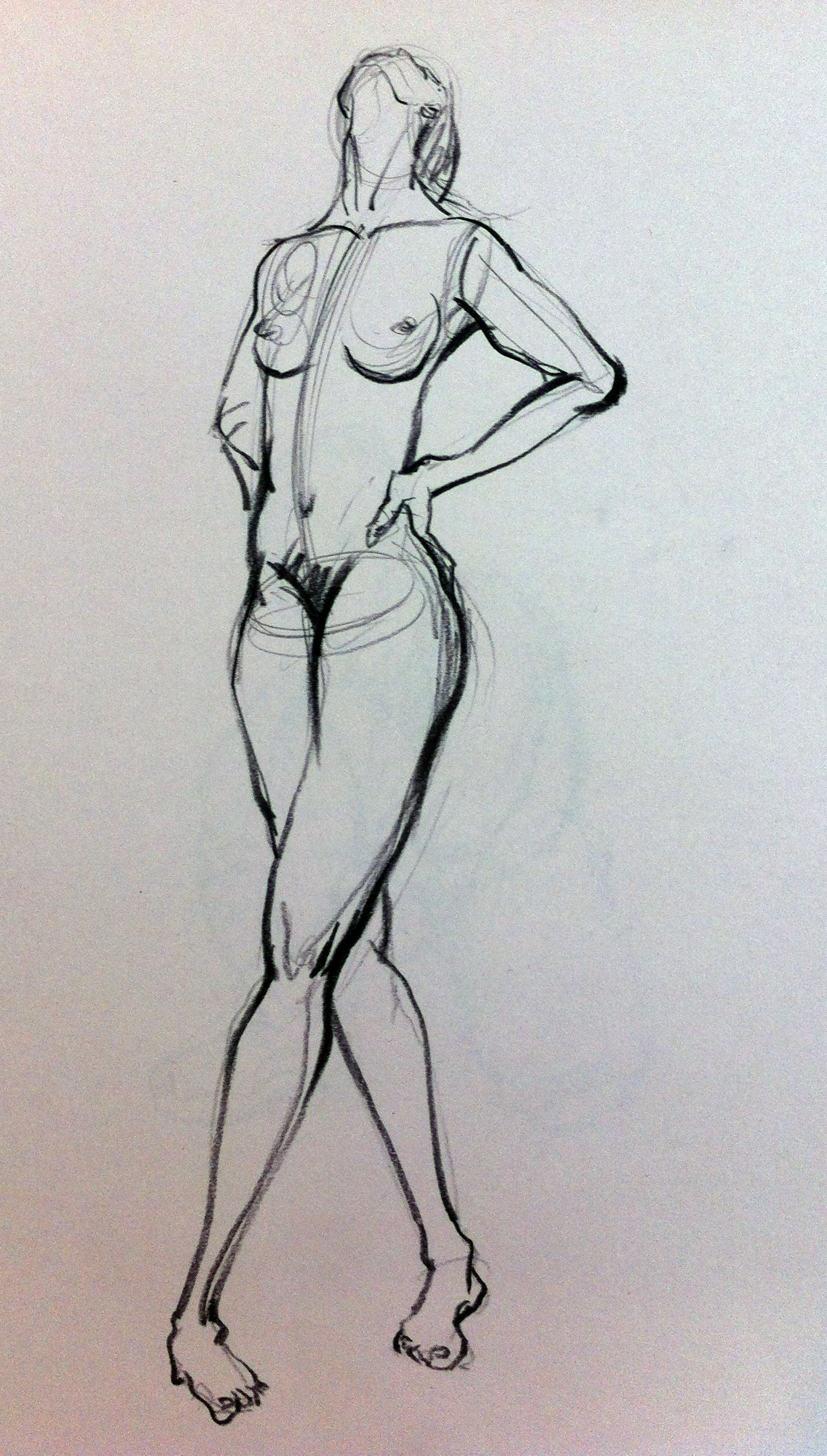 nude drawing in 5min. # conte | Fashion Illustrations | Pinterest ...