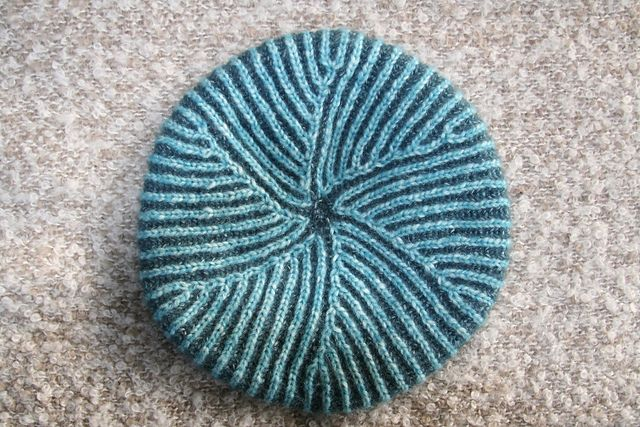 Ravelry: Pinwheel Brioche Beret pattern by Nancy Marchant. Link to ...