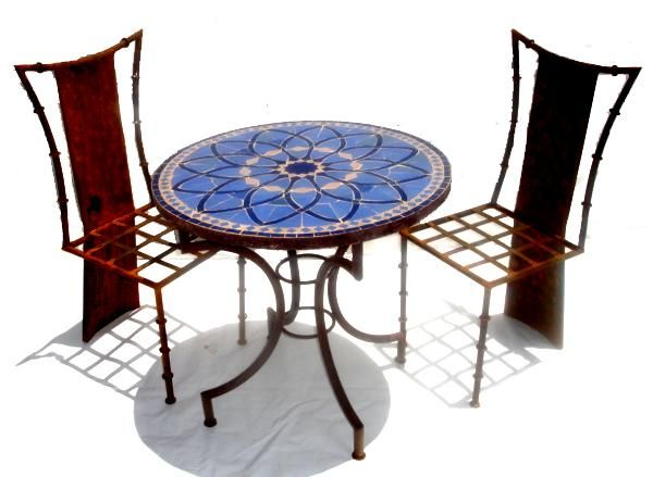 An Outstanding Moroccan Mosaic Tile Table With Andalusian Tile Work. The  Paterns Are All Handcut