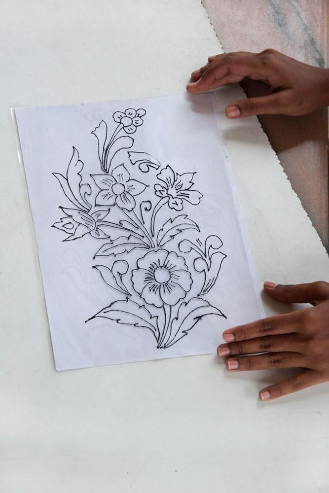 Making Process Glass Painting Designs Flower Illustration Hand