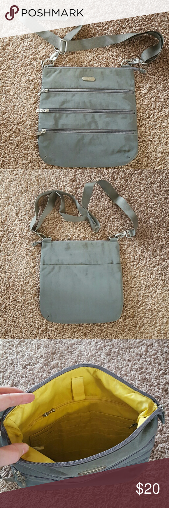 "Baggallini Crossbody Zipper Bag Small bag with adjustable strap. Tons of zipper pockets for separate storage. Measures about 11""w x 11""h. Excellent condition! Baggallini Bags Crossbody Bags"