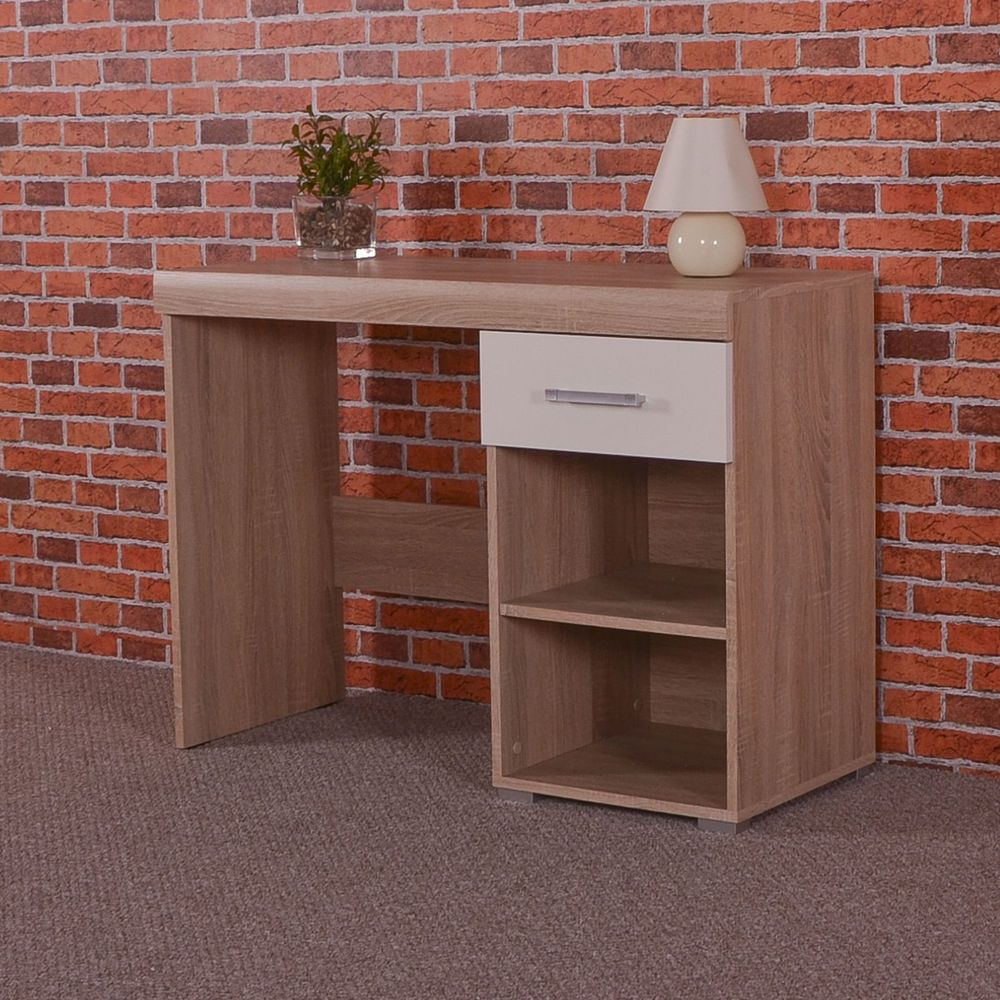 Best Details About White Sonoma Oak Dressing Table 1 Drawer 400 x 300
