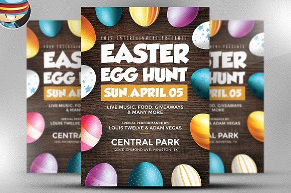 Easter Egg Hunt Flyer Template By Hotpin On Creative Market