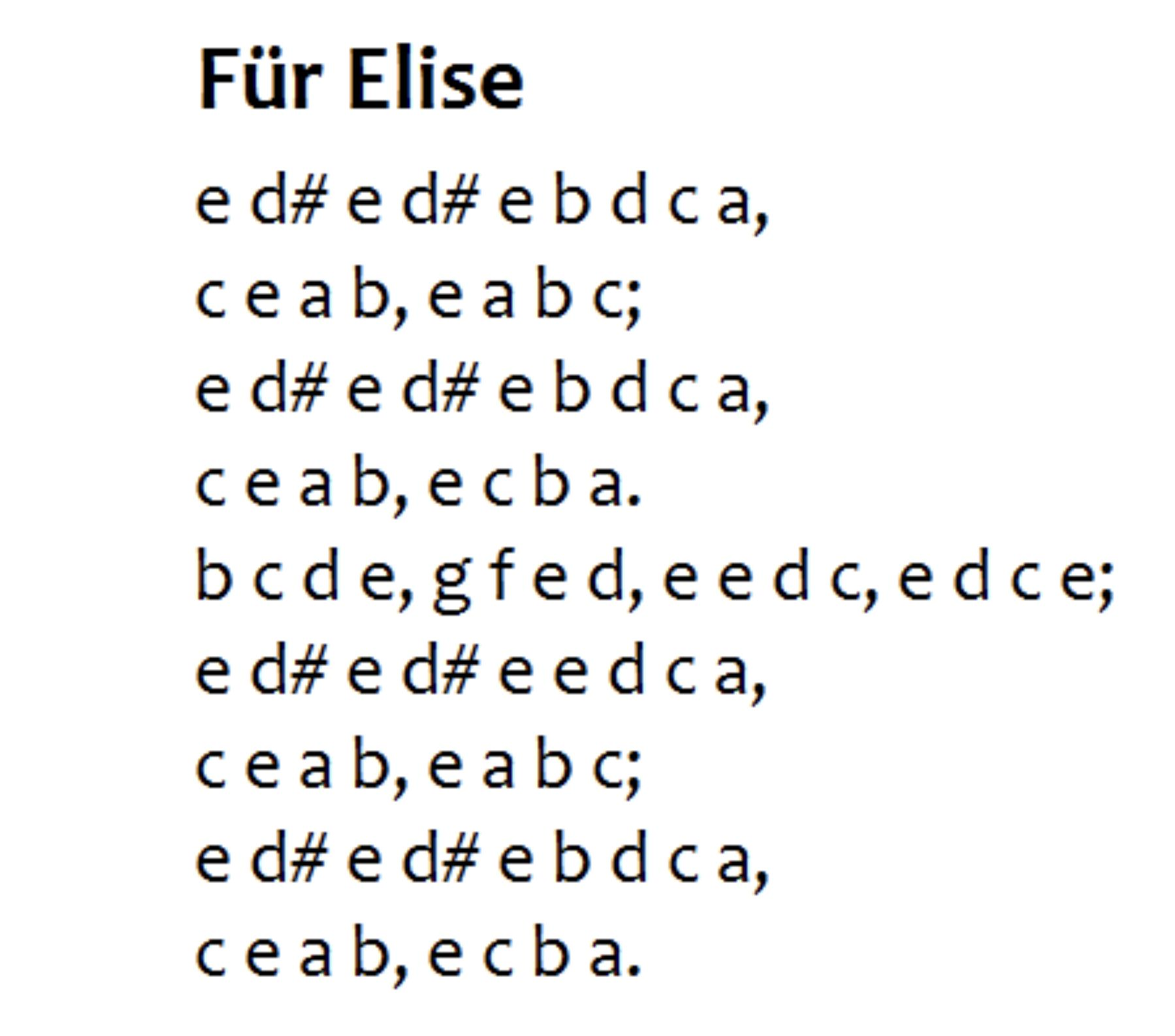For People Who Wanna Learn The Easy Version Of Fur Elise With