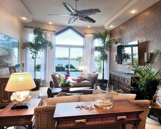 Tropical Living Room Design Pictures Remodel Decor And Ideas