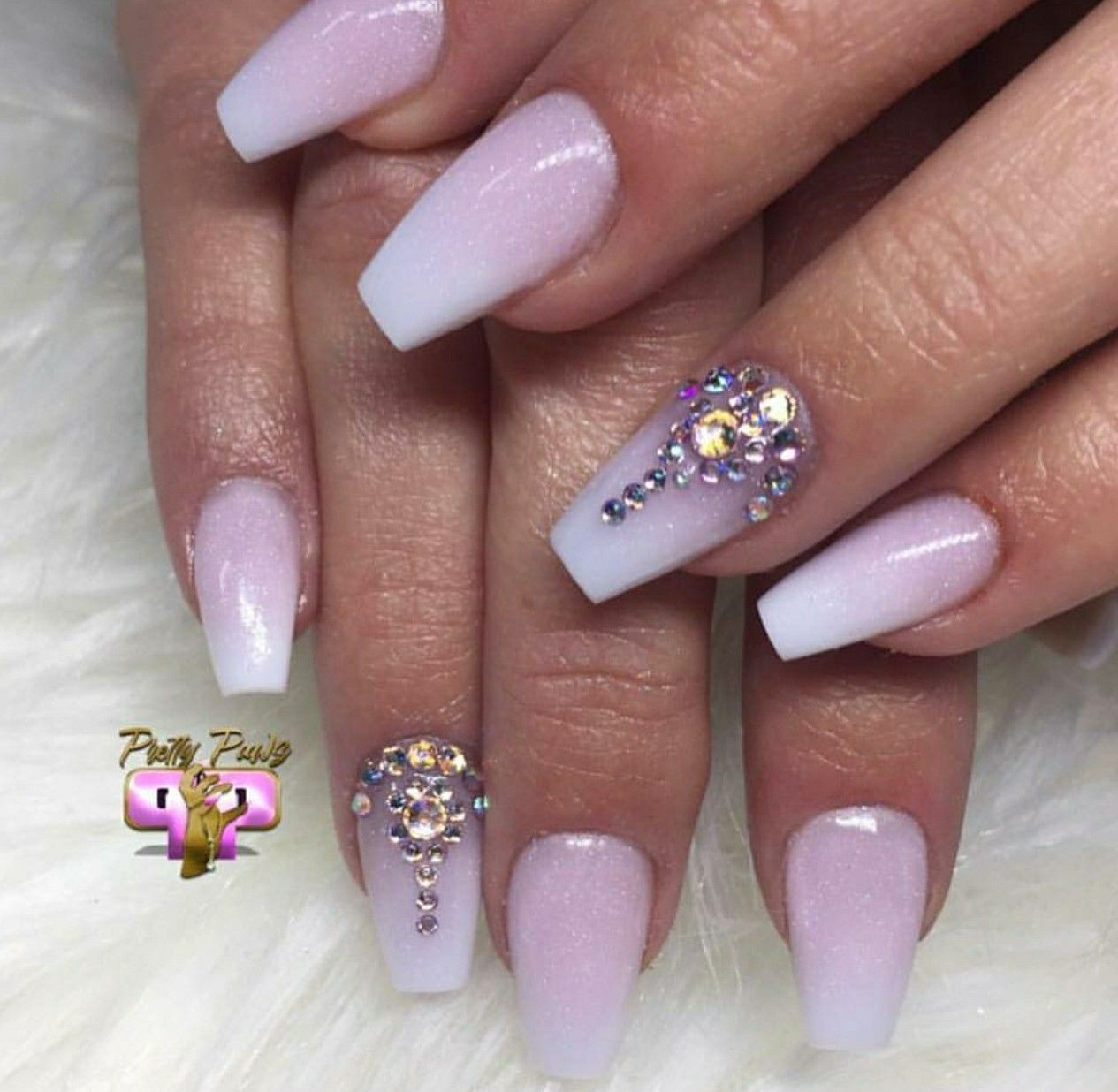 Nail Shapes With Images Tapered Square Nails Rhinestone Nails