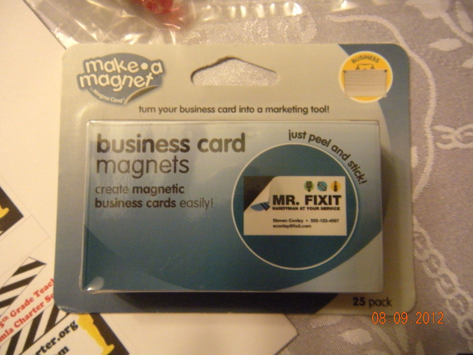 business card magnets from office depot $8