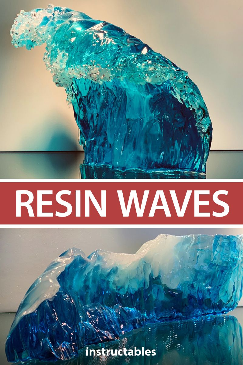 Learn the trick to making a realistic wave out of resin.  #Instructables #art #decor #sculpture #epoxy