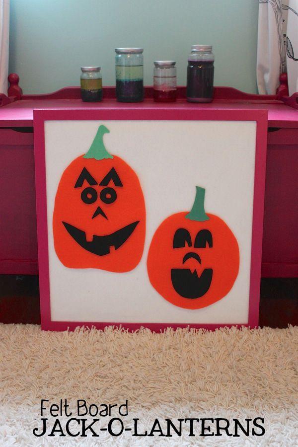 Felt Board Jack-o-lanterns