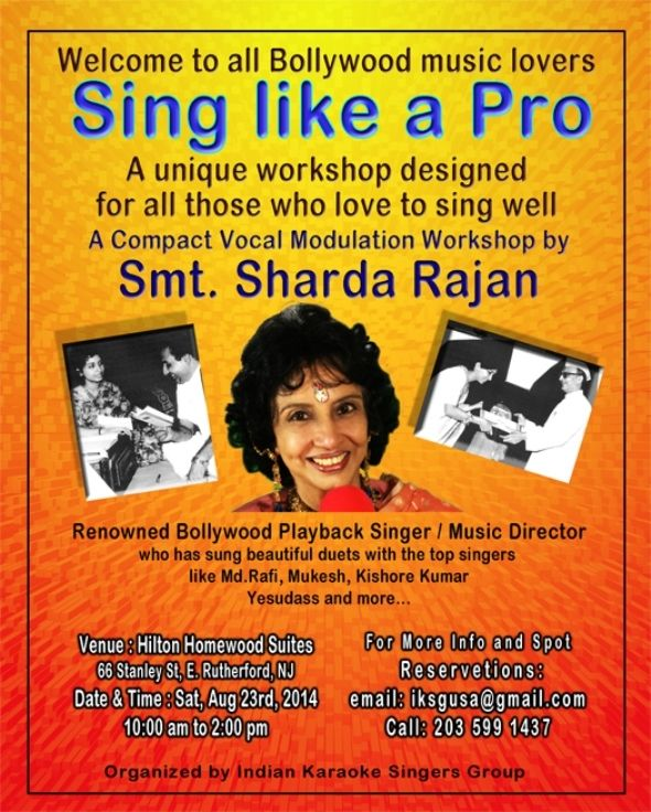 Vocal Workshop By Sharda Renowned Bollywood Playback Singer Music