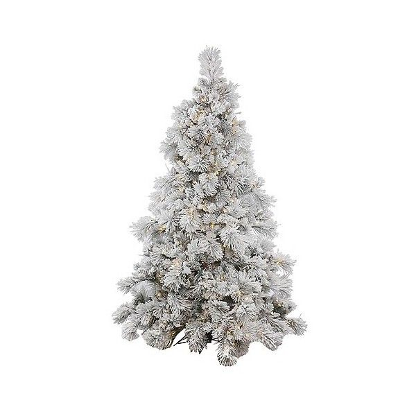 Ft Flocked Alberta Pine Cone Artificial Christmas Tree With White