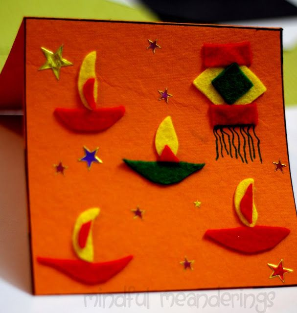 Artsy craftsy mom diwali crafts from the home greeting cards also best for children images craft rh pinterest