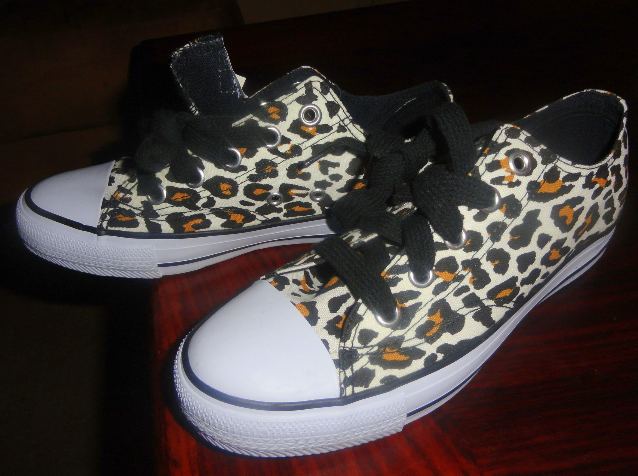 Animal-print sneakers from Payless Shoe